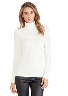 Catherine Malandrino Jacey Turtleneck Sweater in Ivory