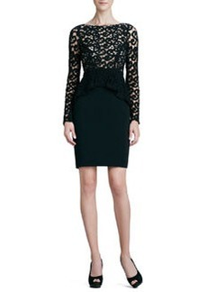 Catherine Malandrino Lace-Bodice Cocktail Dress
