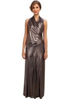 Catherine Malandrino Metallic Jersey Long Dress