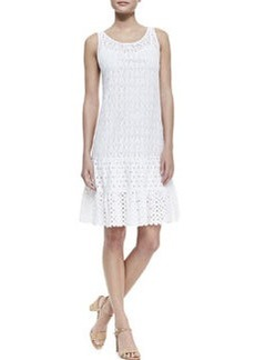 Catherine Malandrino Mixed-Lace Drop-Waist Sleeveless Dress