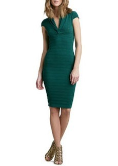 Catherine Malandrino Pointelle-Knit Cap-Sleeve Dress