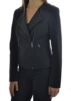 Catherine Malandrino Runway Style Ponte Moto Jacket (XXL, Grey Heather)