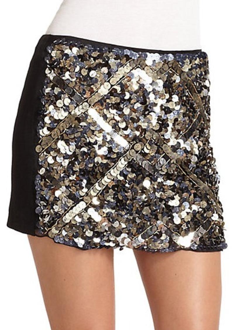 Catherine Malandrino Sequin Paillete Mini Skirt