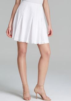 Catherine Malandrino Skirt - Goldie Dot Lace Inset