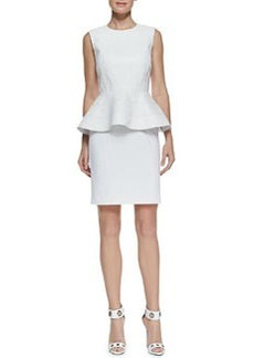 Catherine Malandrino Sleeveless Peplum Ponte Dress