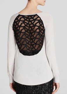 Catherine Malandrino Sweater - Maeven Cage Lace Back