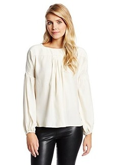 Catherine Malandrino Women's Harsha Silk Poet Sleeve Blouse