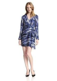 Catherine Malandrino Women's Isabella Silk Printed Wrap Dress
