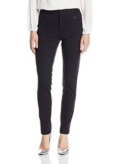 Catherine Malandrino Women's Karina Ponte Pant with Leather Pocket