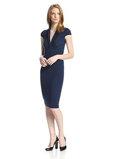 Catherine Malandrino Women's Tina Merino Ribbed Dress