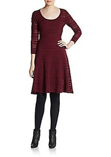 Catherine Malandrino Wool Blend Pointelle Sweater Dress