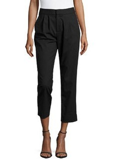 Catherine Malandrino Woven Pleated Pants, Black