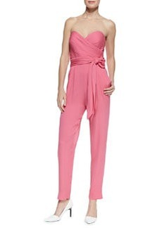 Favorites Strapless Silk Jumpsuit   Favorites Strapless Silk Jumpsuit