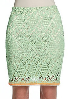 Elie Tahari Bella Lace Skirt