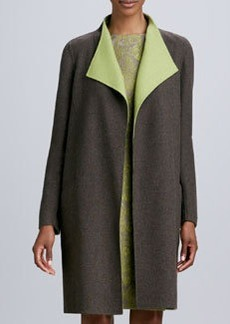 Lafayette 148 New York Ginata Contrast-Collar Coat
