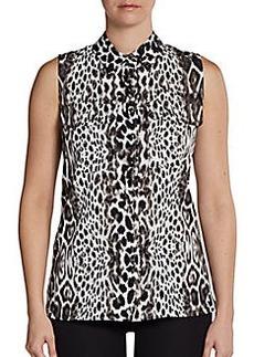 Calvin Klein Animal-Print Sleeveless Blouse