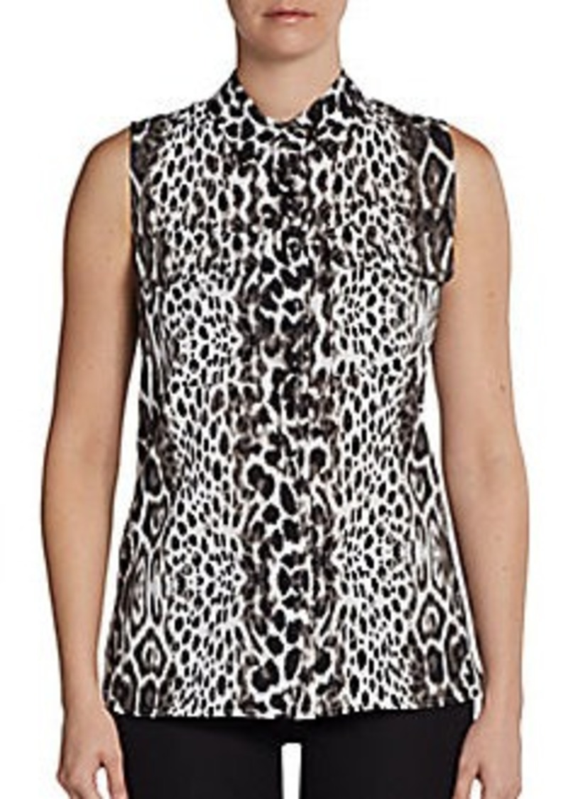 Calvin Klein Animal-Print Sleeveless Blouse