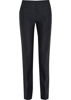 Marni Wool and silk-blend high-rise straight-leg pants