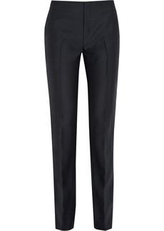 Marni Wool and silk-blend high-rise straight-leg pants