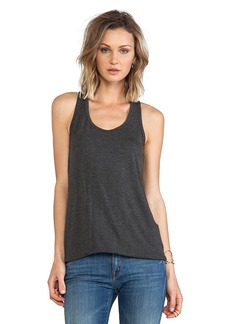 Susana Monaco Racer Back Tank in Charcoal