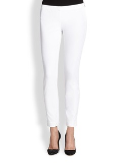 Saks Fifth Avenue Collection Stretch Cotton Side-Zip Leggings