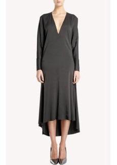 Lanvin Dolman Sleeve V-neck Dress