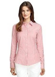 Tailored Fit Non-Iron Thin Stripe Dress Shirt