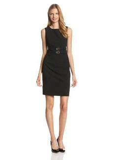 Calvin Klein Women's Sleeveless Double-Belted Dress