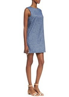 Tierra Sleeveless Chambray Shift Dress   Tierra Sleeveless Chambray Shift Dress