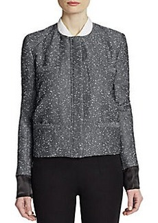 Zac Posen Textured Collarless Jacket