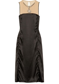 Lanvin Embellished washed-silk dress
