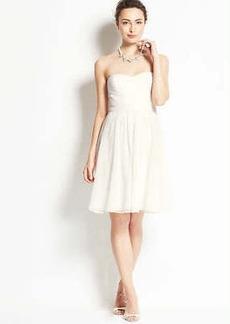 Silk Georgette Strapless Dress