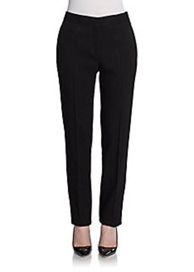 Calvin Klein Collection Wool Crepe Straight-Leg Pants