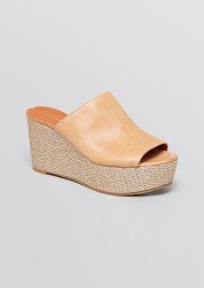 Via Spiga Open Toe Platform Wedge Sandals - Hale