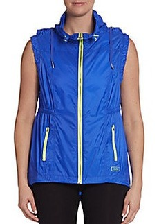Calvin Klein Performance Hooded Hi-Lo Active Vest