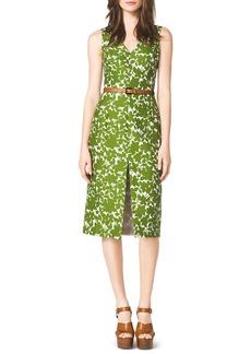 Michael Kors Floral-Print Cotton Dress