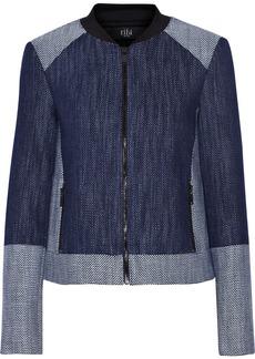 Tibi Basketweave denim jacket