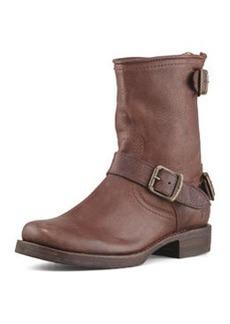 Frye Veronica Short Back-Zip Boot, Dark Brown