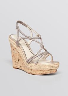 Elie Tahari Platform Wedge Espadrille Sandals - Absinthe