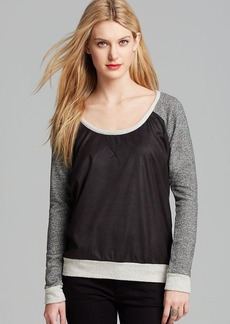 JET Sweatshirt - Faux Leather