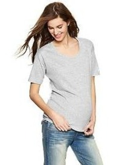 Mixed woven scoop T