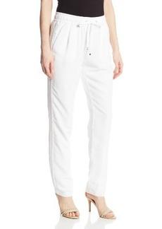 Calvin Klein Women's Pant with Mesh Stripe