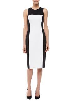 Michael Kors Sleeveless Colorblock Sheath Dress