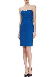 Zac Posen Strapless Cocktail Dress, Bright Blue