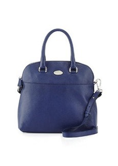 Furla Victoria Leather Medium Dome Tote Bag, Navy