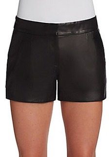 Twelfth Street by Cynthia Vincent Pleated Leather Shorts