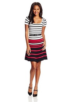 XOXO Juniors Stripe Fit and Flare Dress