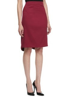 Zac Posen Textured Crepe Pencil Skirt
