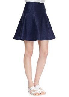 Nanette Lepore Smitten Paneled-Tweed Flare Skirt