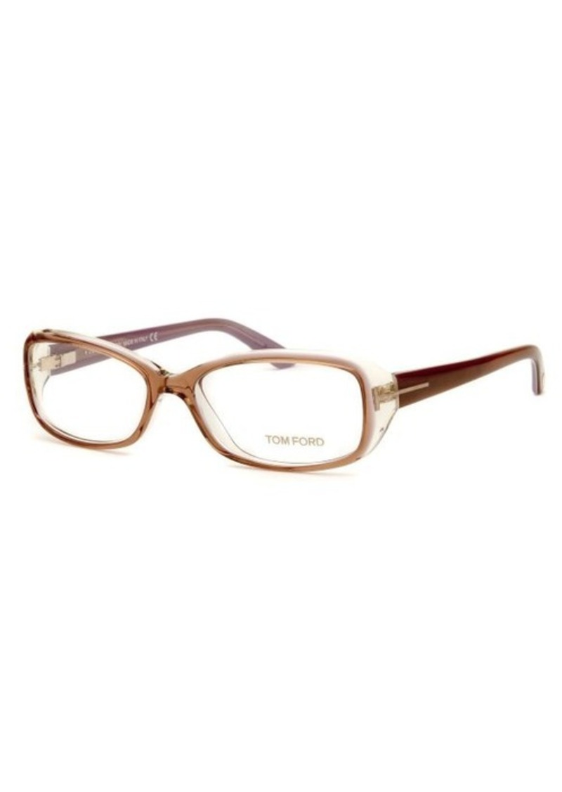 tom ford tom ford s rectangle brown transparent